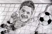 Chris Day caricature - Oldham Athletic